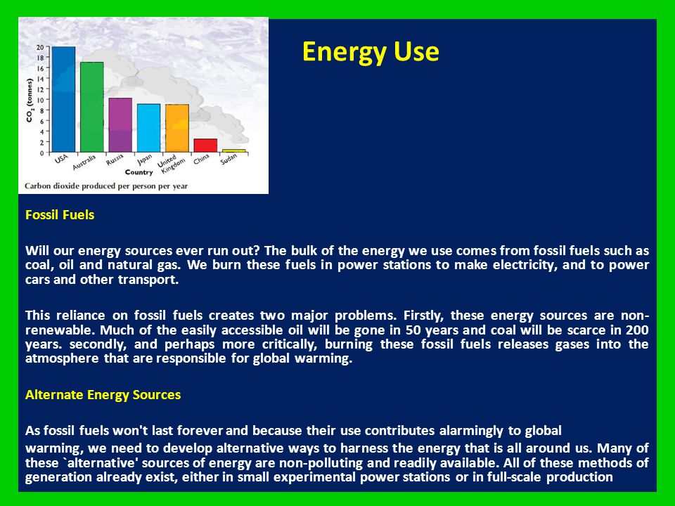 Energy Use Fossil Fuels