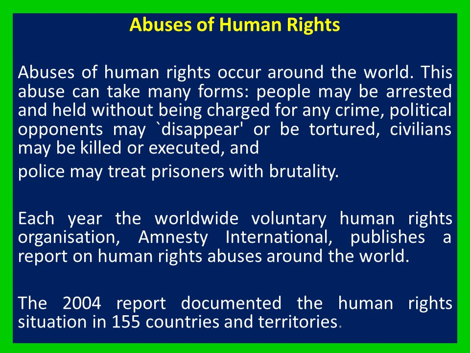 Abuses of Human Rights