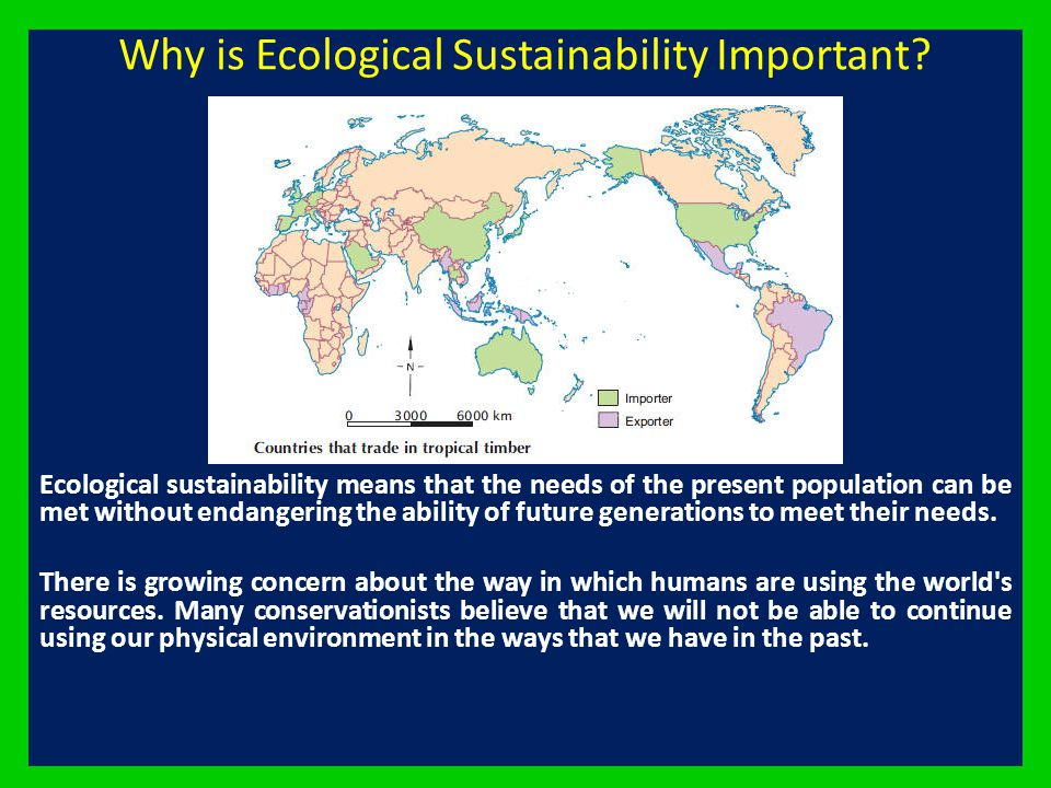 Why is Ecological Sustainability Important