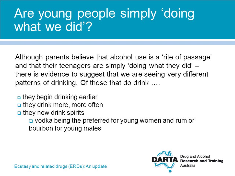 Are young people simply 'doing what we did'