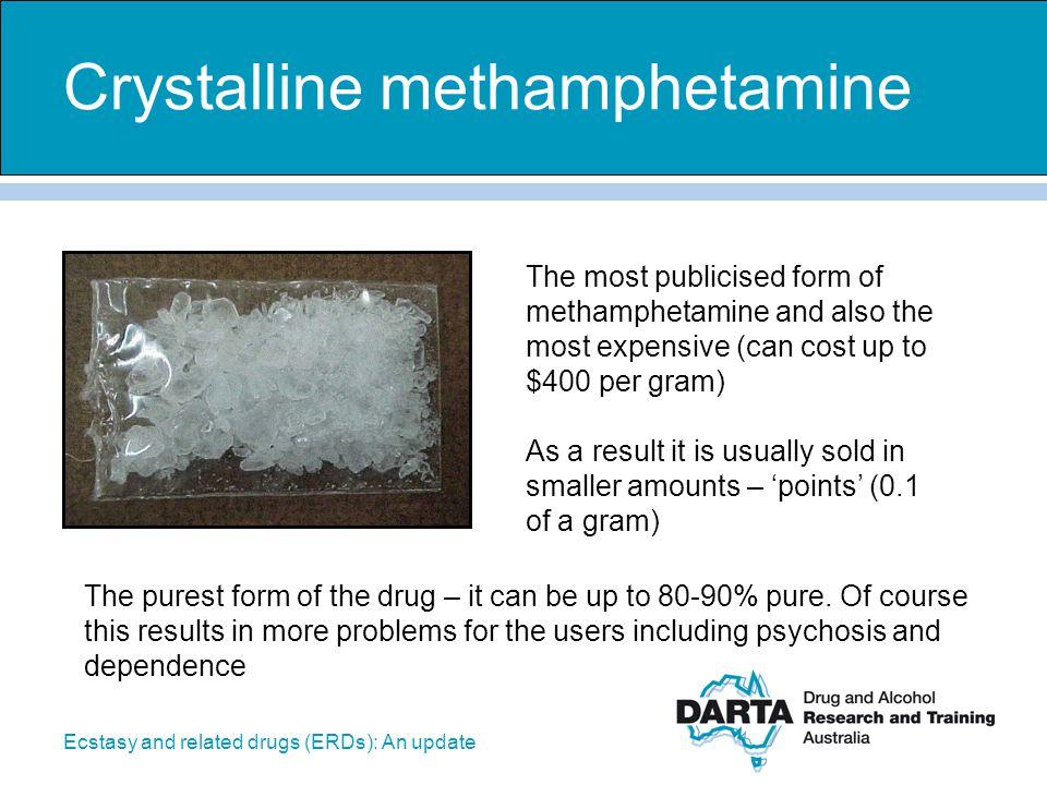 Crystalline methamphetamine