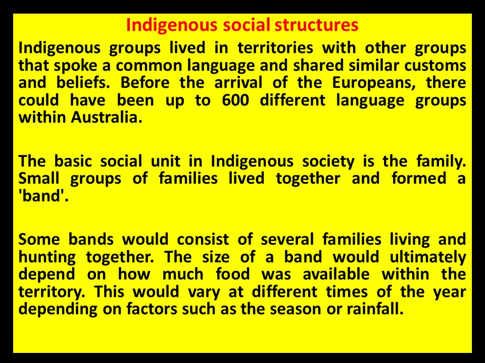 Indigenous social structures