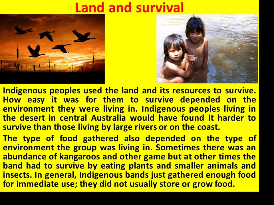 Land and survival