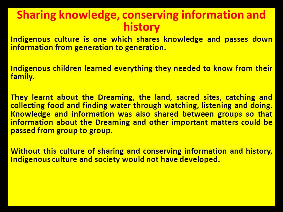 Sharing knowledge, conserving information and history