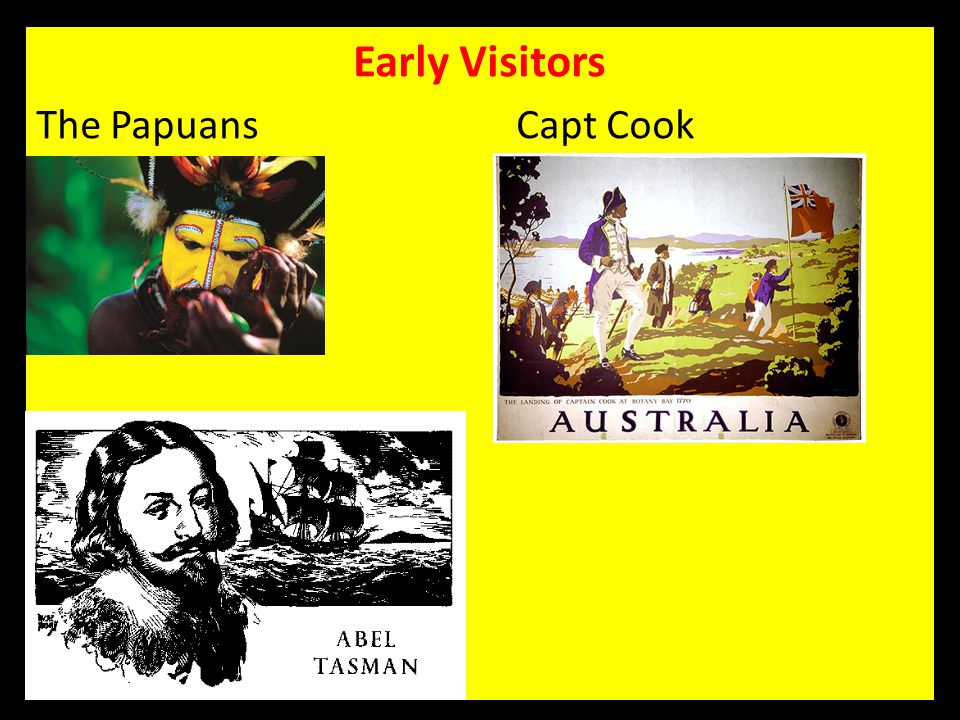 Early Visitors The Papuans Capt Cook