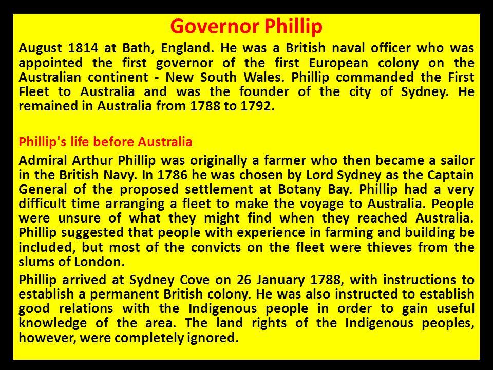 Governor Phillip