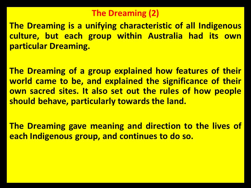 The Dreaming (2)