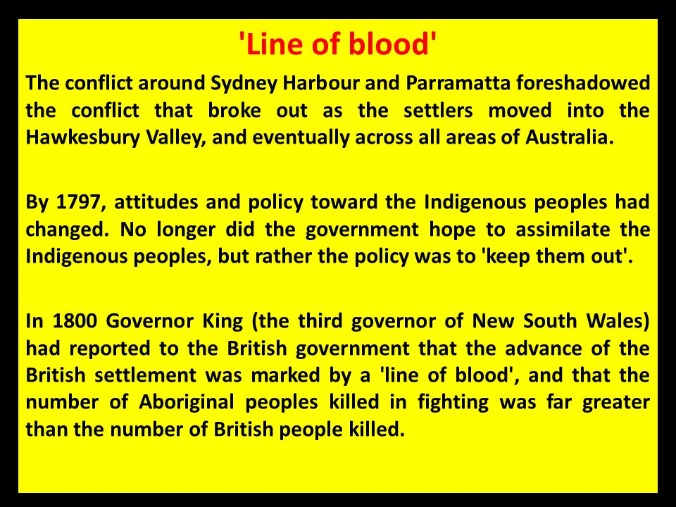 Line of blood