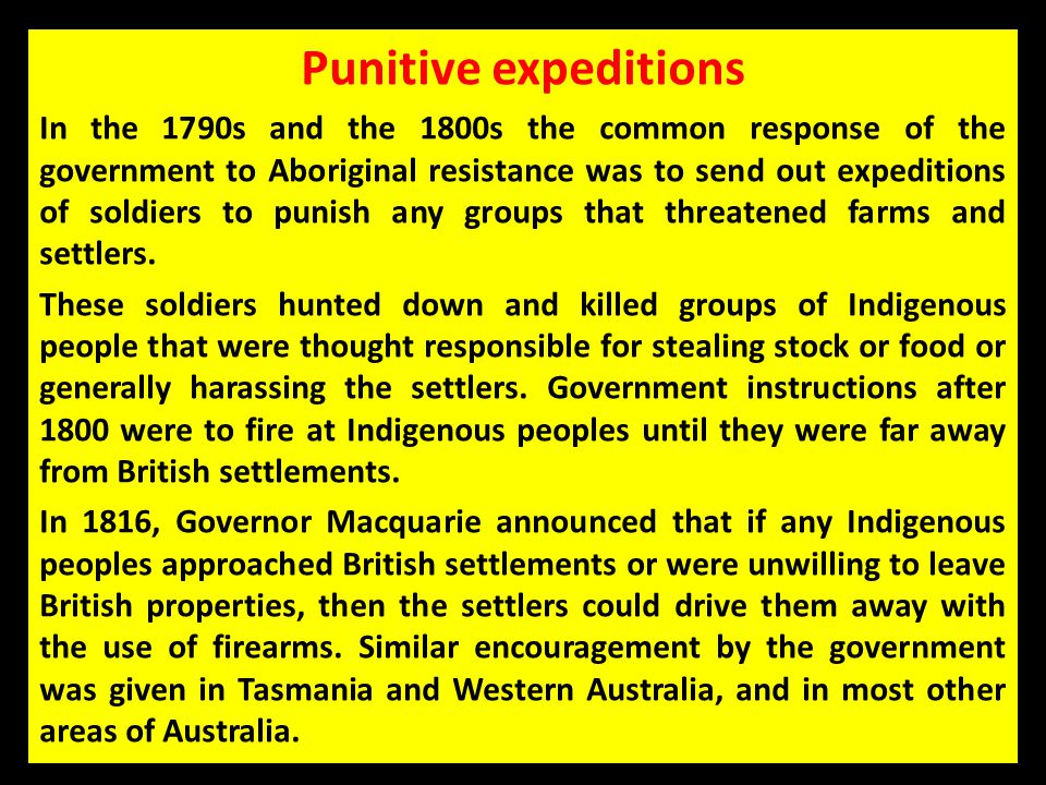 Punitive expeditions