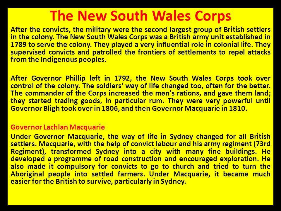 The New South Wales Corps
