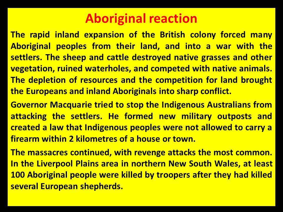 Aboriginal reaction