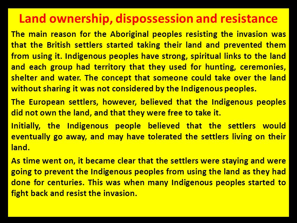 Land ownership, dispossession and resistance