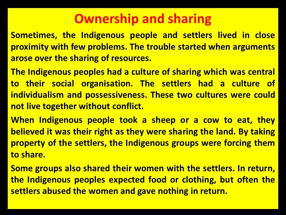 Ownership and sharing
