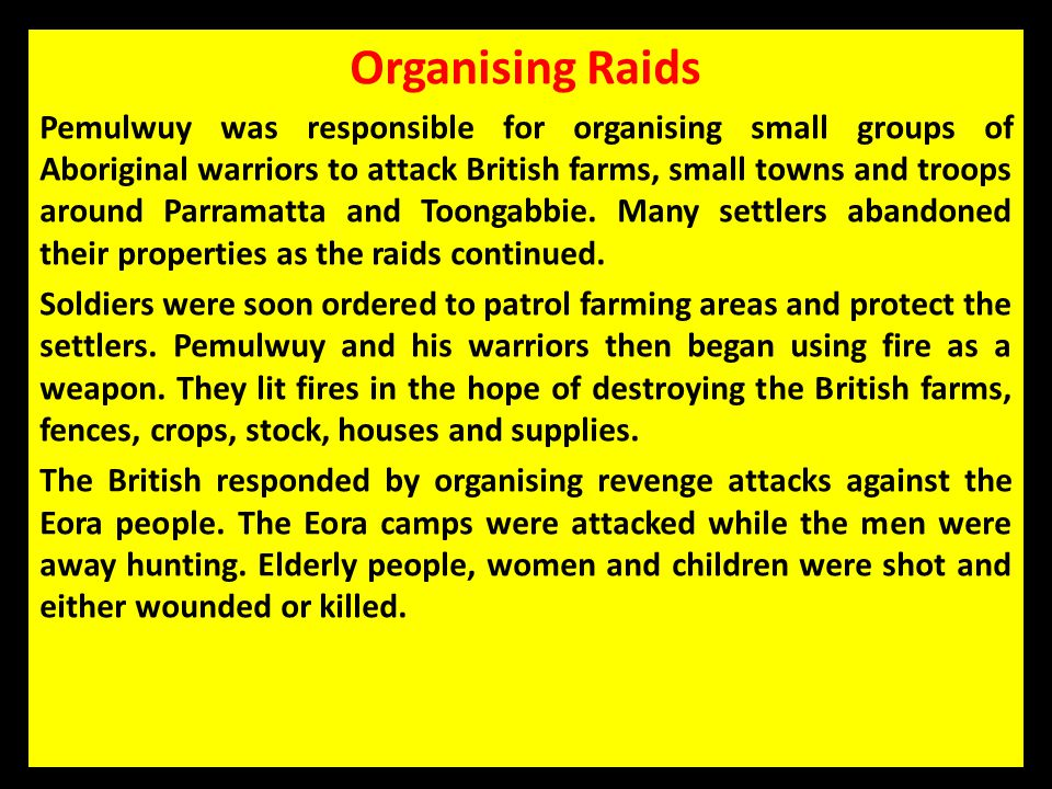 Organising Raids