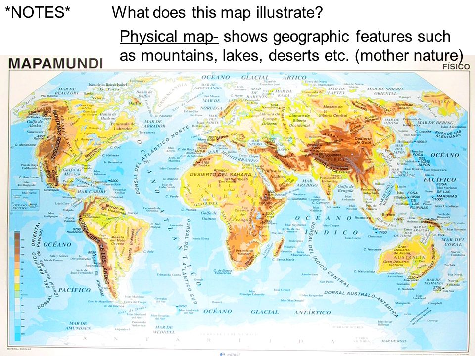 How Can Maps Help Us To Understand The World Ppt Video Online - Us map with geographical features
