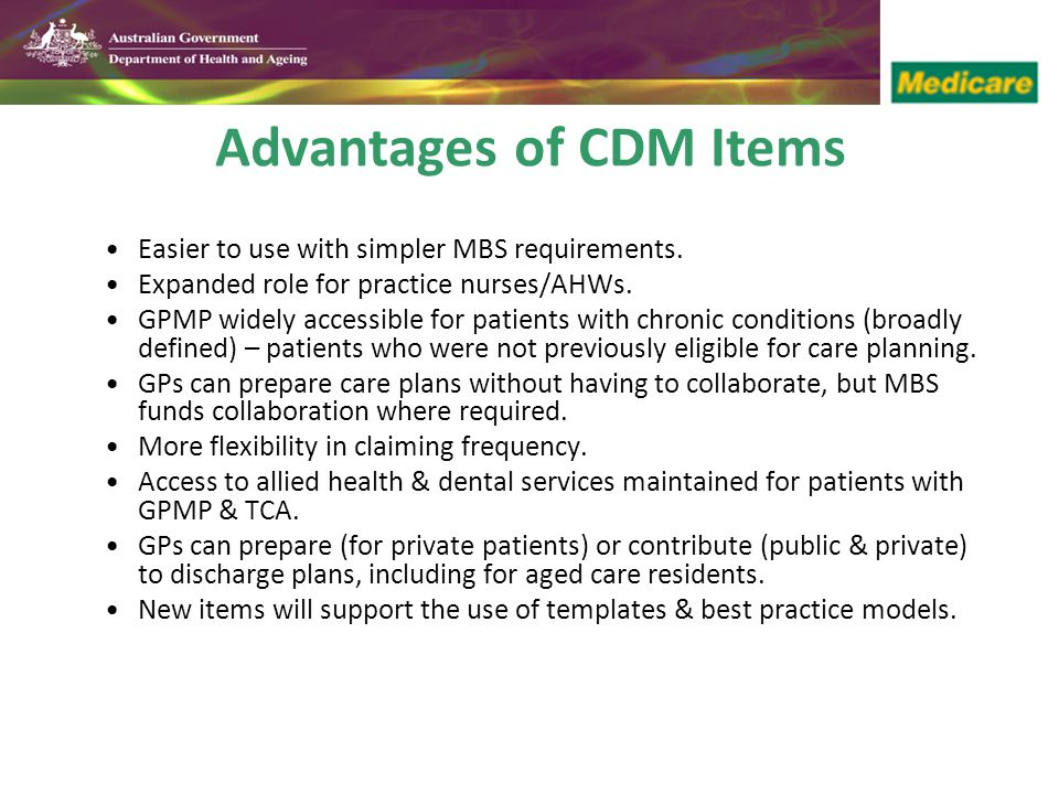 Advantages of CDM Items