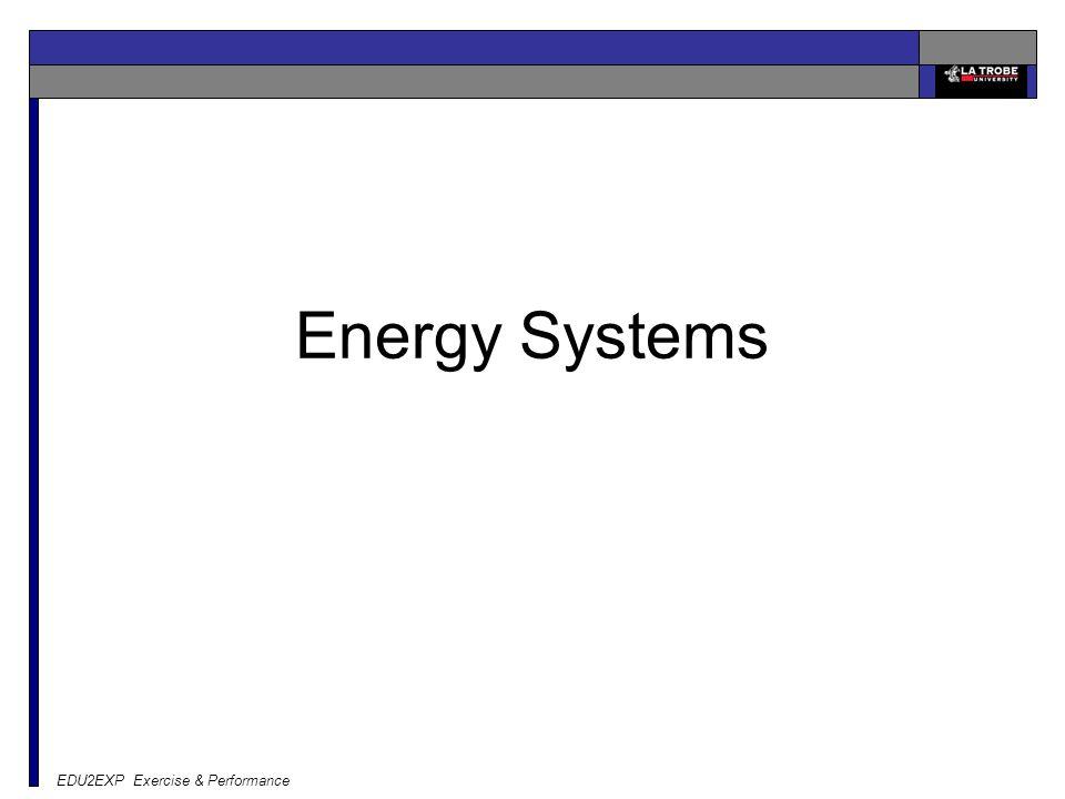 Energy Systems EDU2EXP Exercise & Performance