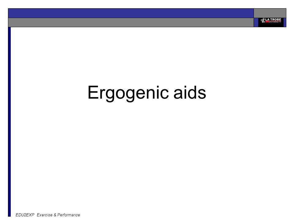 Ergogenic aids EDU2EXP Exercise & Performance