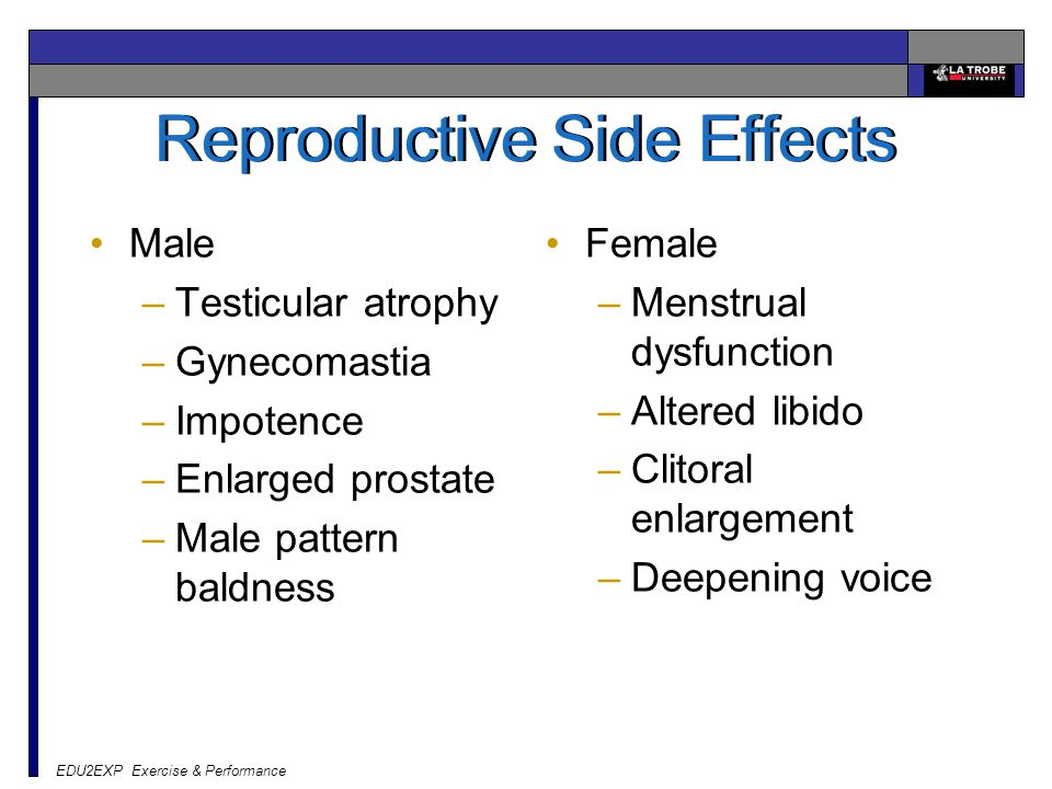 Reproductive Side Effects