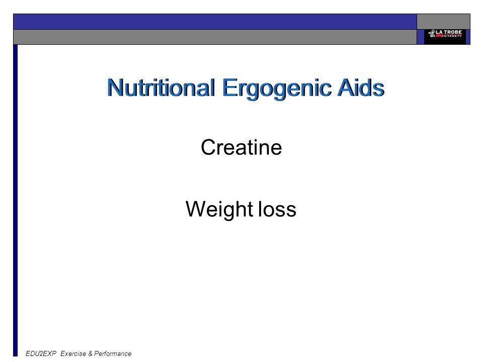 Nutritional Ergogenic Aids