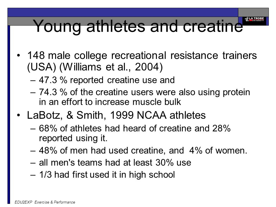 Young athletes and creatine