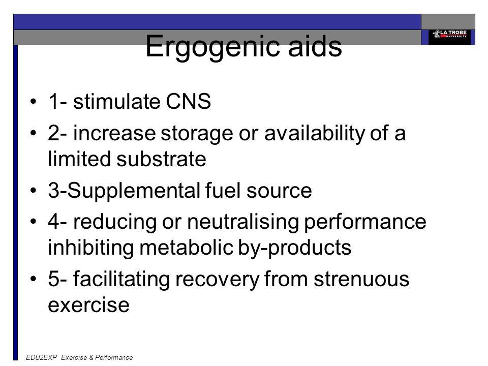 Ergogenic aids 1- stimulate CNS