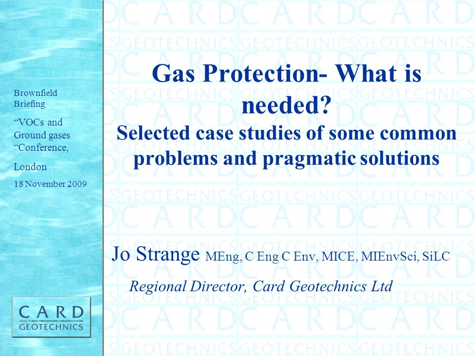 Gas Protection- What is needed