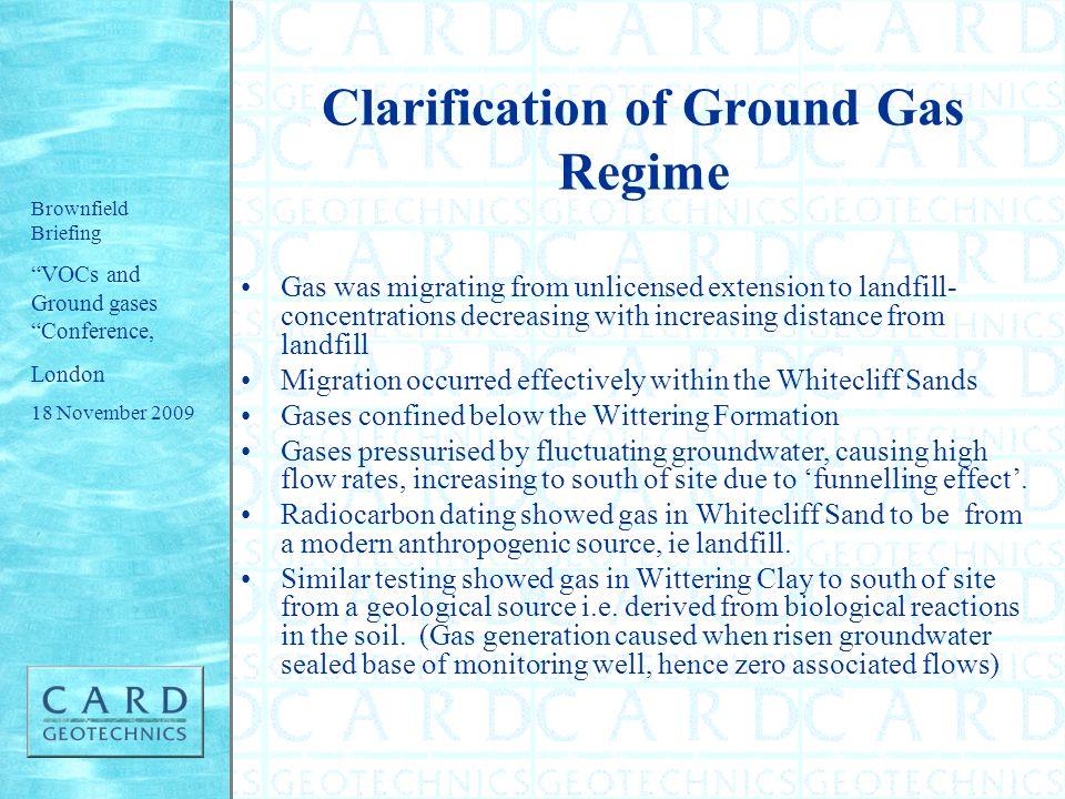 Clarification of Ground Gas Regime