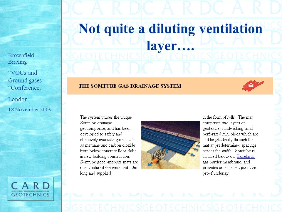 Not quite a diluting ventilation layer….