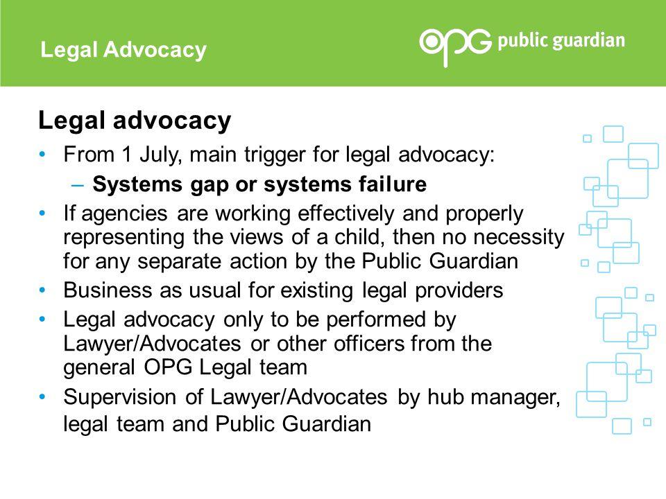 Legal advocacy Legal Advocacy