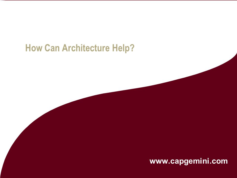 How Can Architecture Help