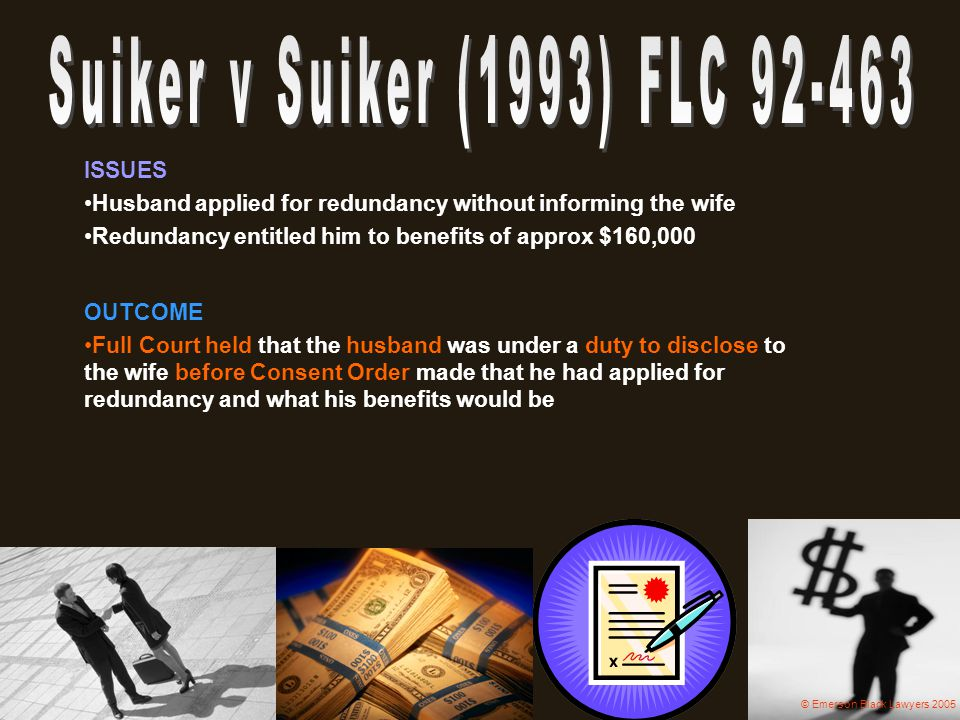 Suiker v Suiker (1993) FLC 92-463 ISSUES