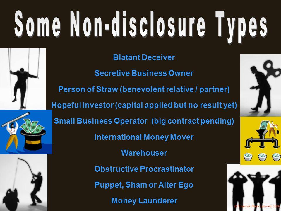 Some Non-disclosure Types