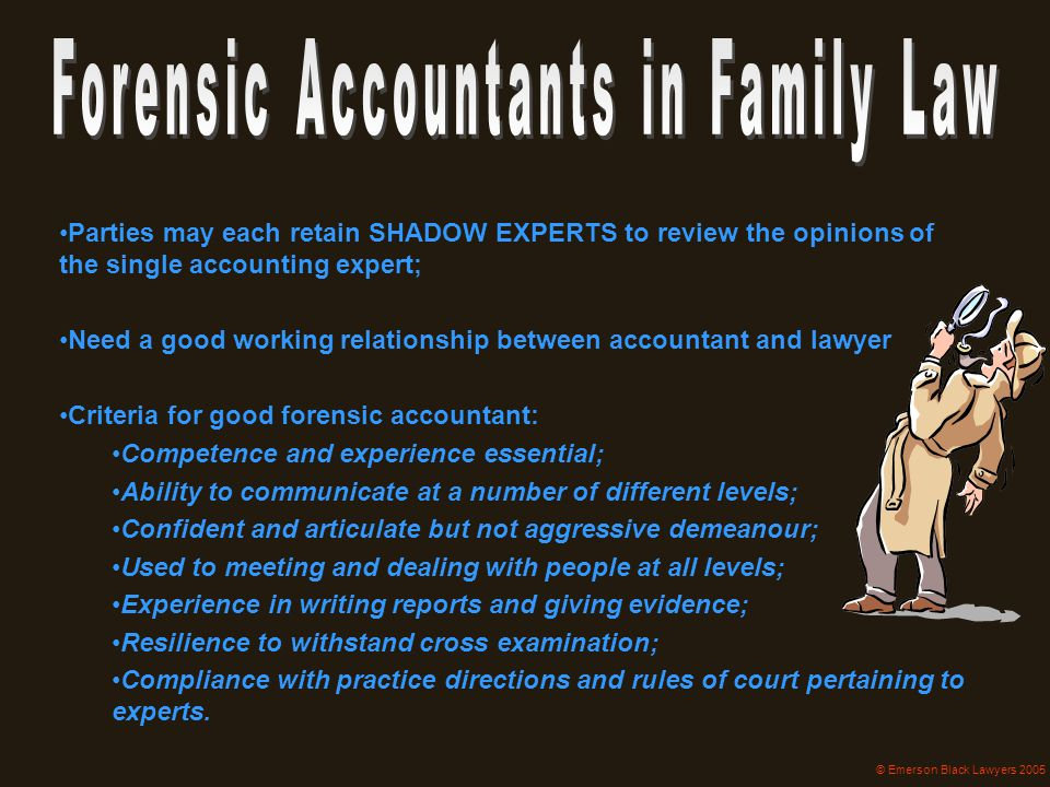 Forensic Accountants in Family Law
