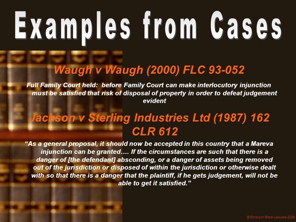 Jackson v Sterling Industries Ltd (1987) 162 CLR 612