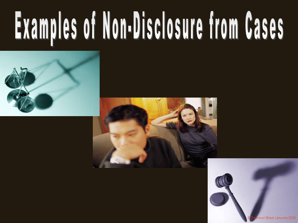 Examples of Non-Disclosure from Cases