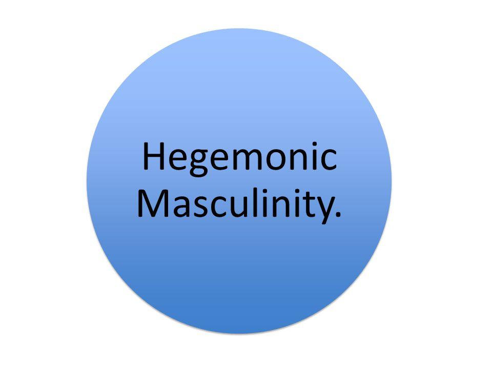 Hegemonic Masculinity.