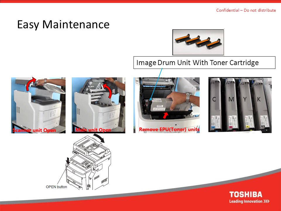 Easy Maintenance Image Drum Unit With Toner Cartridge C M Y K