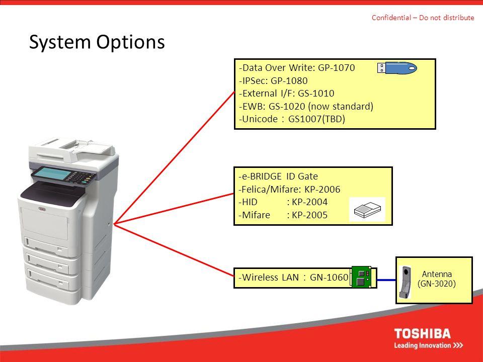 System Options Data Over Write: GP-1070 IPSec: GP-1080