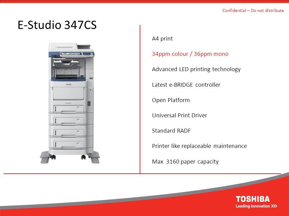 E-Studio 347CS A4 print 34ppm colour / 36ppm mono