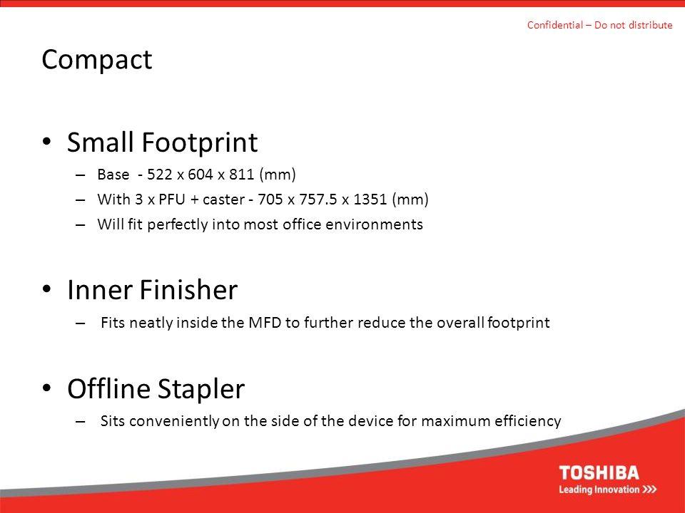 Compact Small Footprint Inner Finisher Offline Stapler