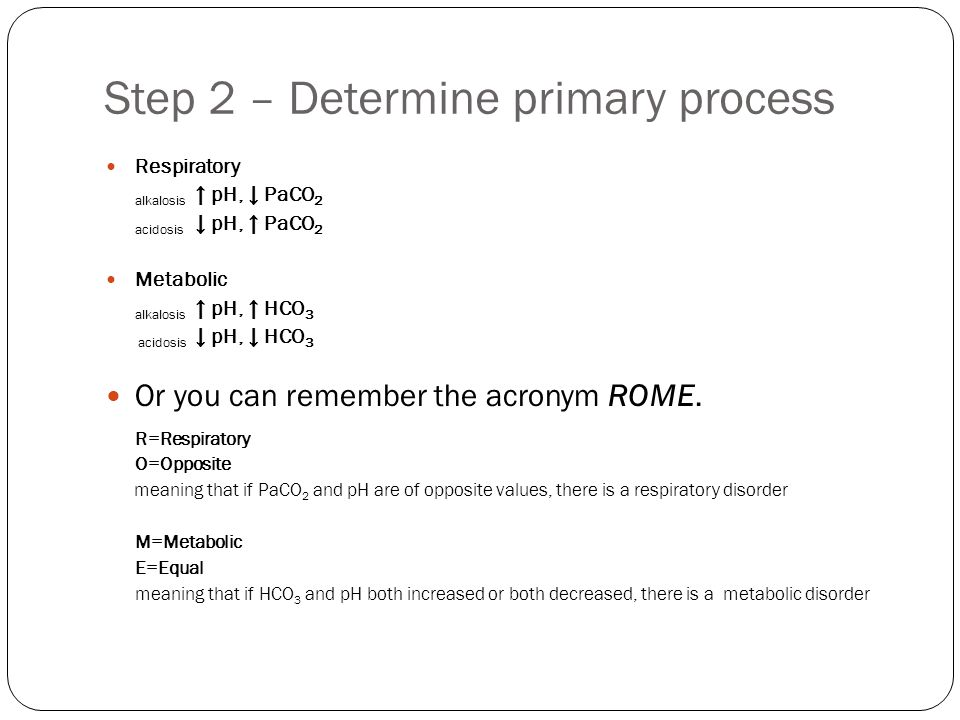 Step 2 – Determine primary process