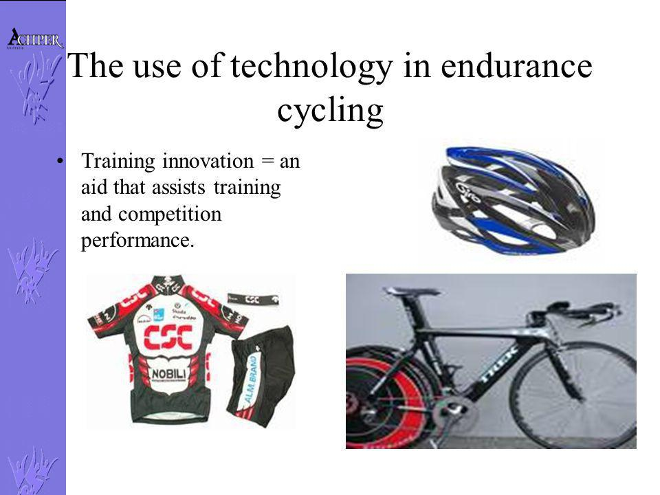The use of technology in endurance cycling