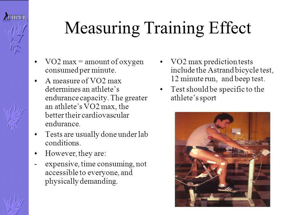 Measuring Training Effect