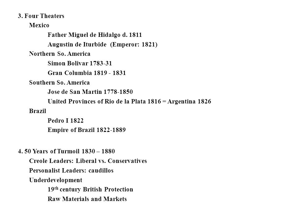 3. Four Theaters Mexico Father Miguel de Hidalgo d. 1811