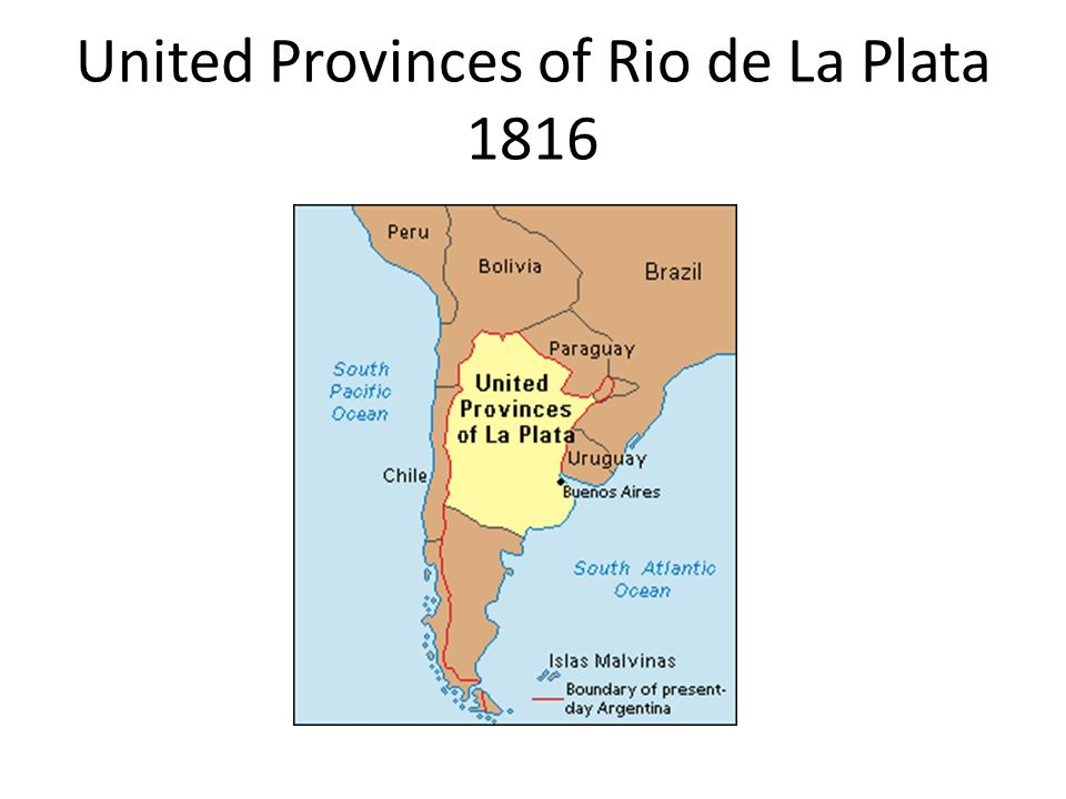 United Provinces of Rio de La Plata 1816