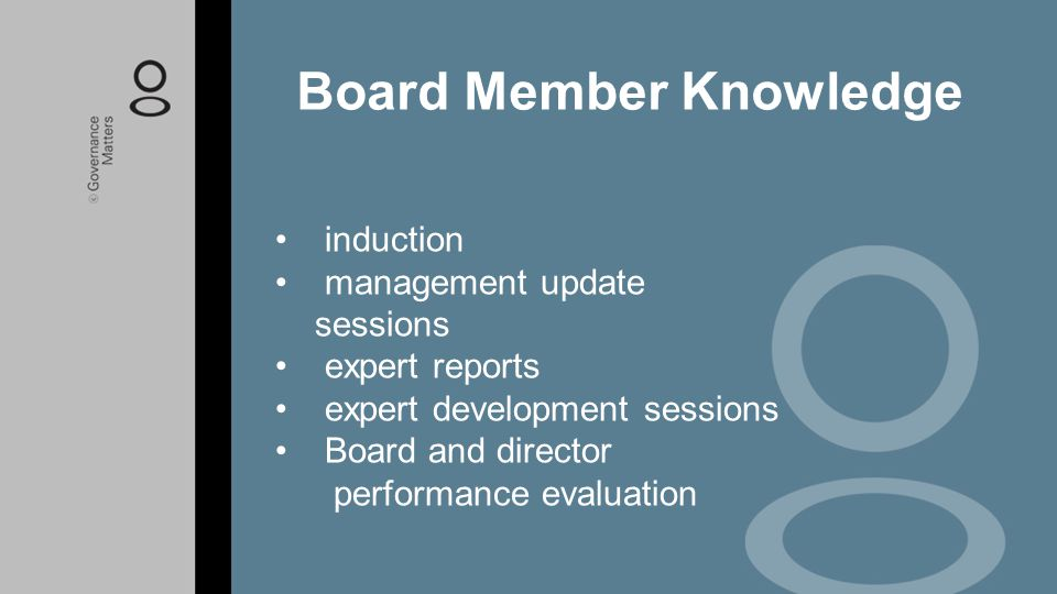 Board Member Knowledge