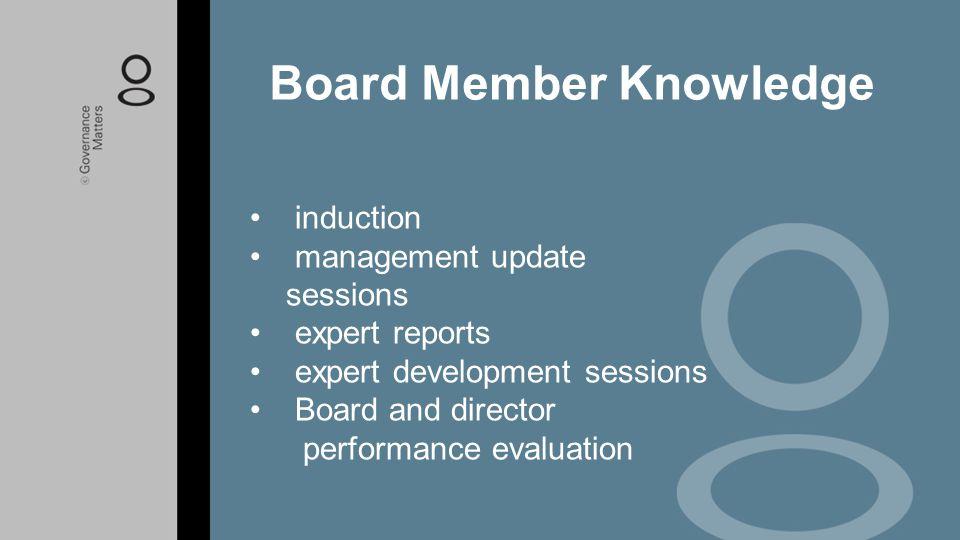 Board Member Knowledge