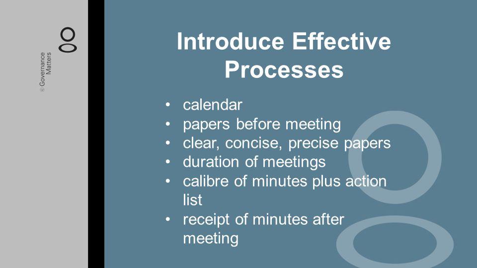 Introduce Effective Processes