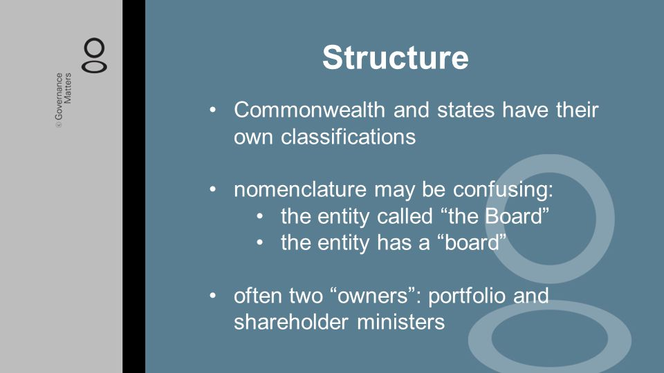 Structure Commonwealth and states have their own classifications